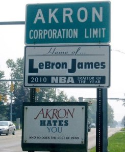 Akron Hates Lebron James, So Does the Rest of Ohio